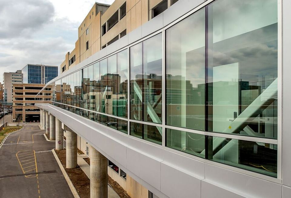 KAI Design Build Completes 1200 Foot Long Elevated Pedestrian Skywalk Through Largest Medical Campus In St Louis