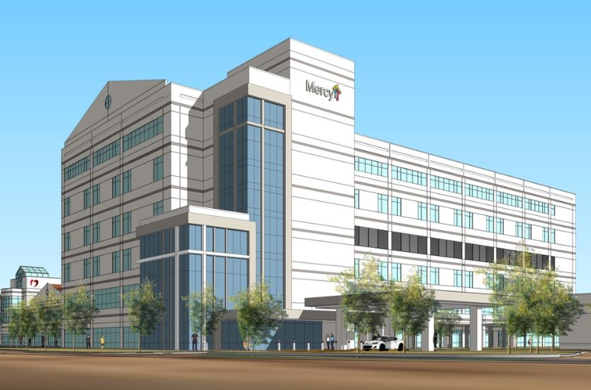 c6c6c3beaef Building team will leverage advanced technology to construct six-story  Mercy hospital tower on OHH s south campus. McCarthy Building Companies